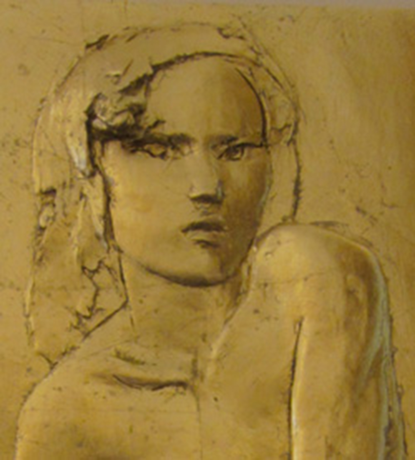 Seated Figure with Gold (Detail)